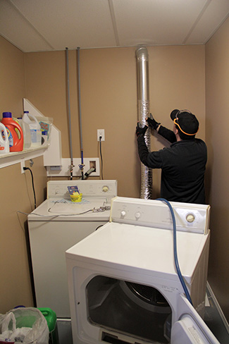 how to clean condo dryer vent